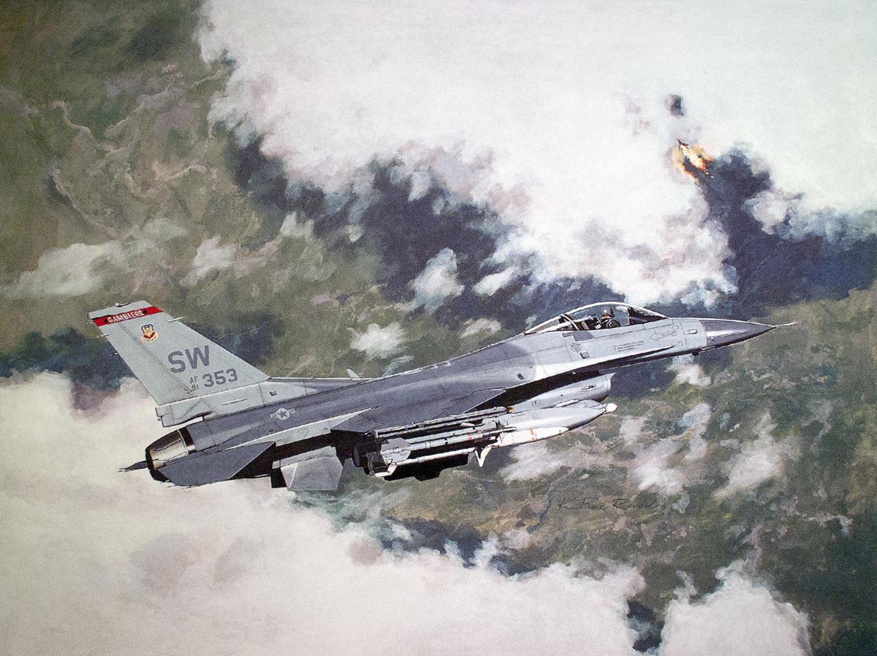 """Avion koji je oborio Milenka Pavlovića (91-0353) bio je iz 77. eskadrile """"Gamblers"""" ali je 1999. godine korišćen u 78. eskadrili / Foto: USAF"""